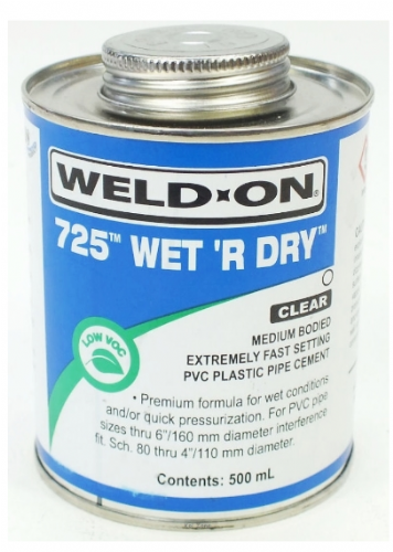 Wet R Dry Solvent Cement - 500ml for Swimming Pool Pipework